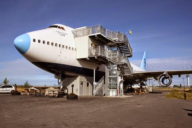 747 converted to hotel in stockholm