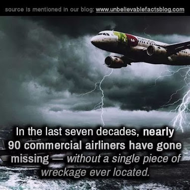 90 commercial planes have gone missing