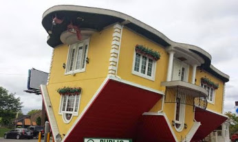 house built upside down