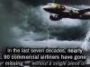 90 commercial planes have gone missing