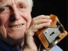 douglas engelbart with his original computer mouse