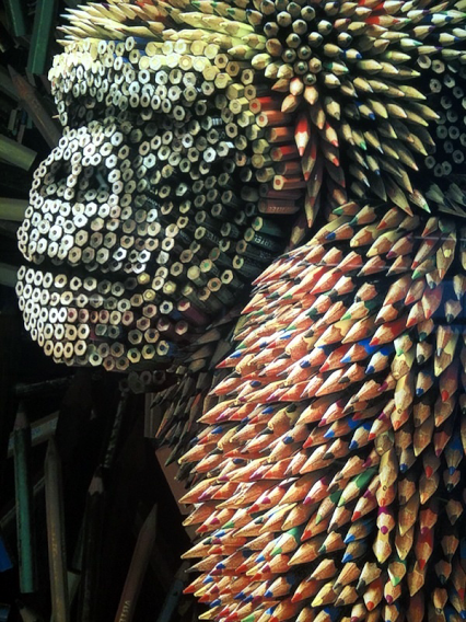 Colored-pencil-sculpture