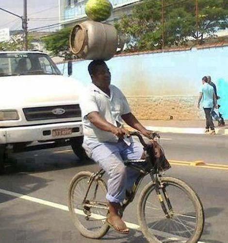 acrobatic cyclist