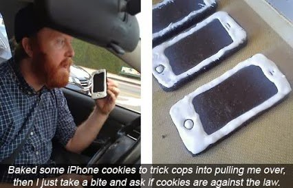 baked iphone cookies