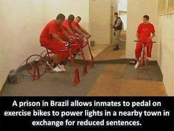 brazil prisoners bike for electricity