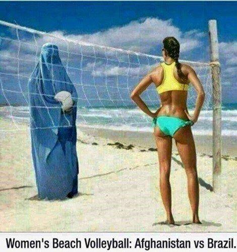 brazil vrs afghanistan volleyball