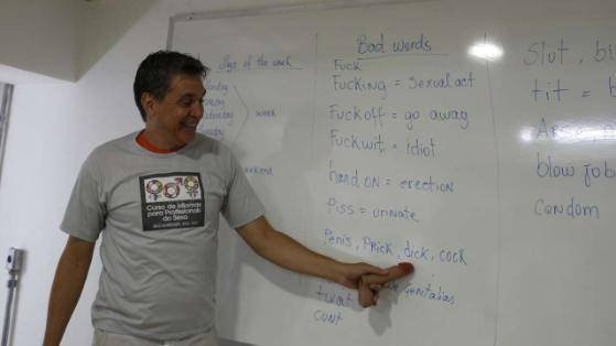 brazilian prostitue learning english