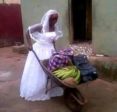 bride and plantain