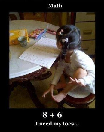 child doing maths