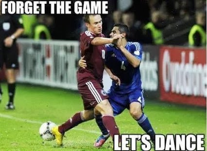dacing footballers