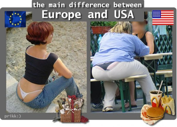 dif btw europe and america