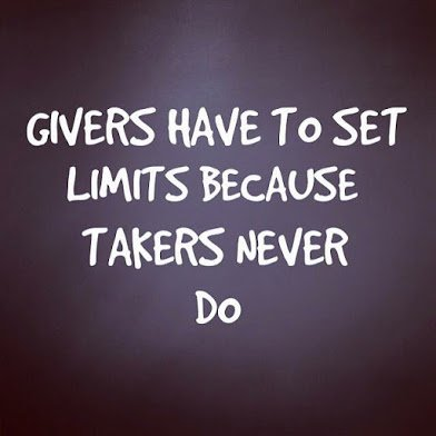 givers must set limit