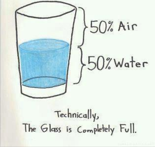 glass is FULL