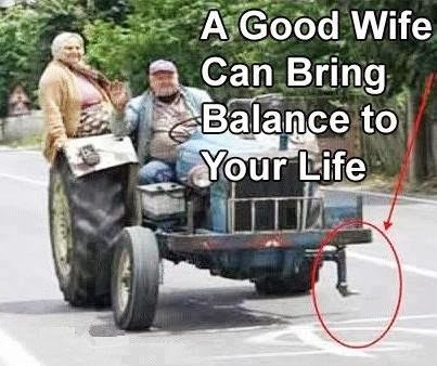 good wife brings balance to ur life