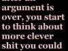 after an argument