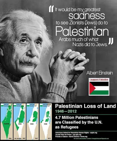 Einstein on jews mistreating palestinians