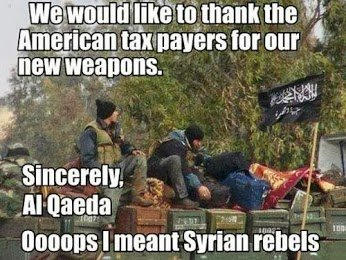 al qaeda thank american people for weapons