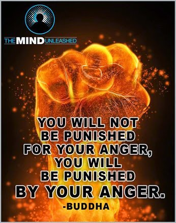 bhudha u will be punished by ur anger