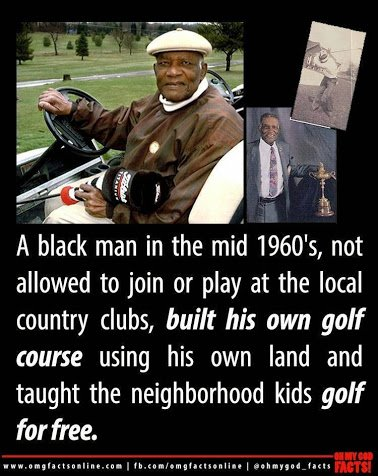 black golfer
