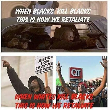 black killing black  versus white killing black
