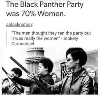 black panther was 70percent women