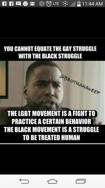 black versus gay struggle