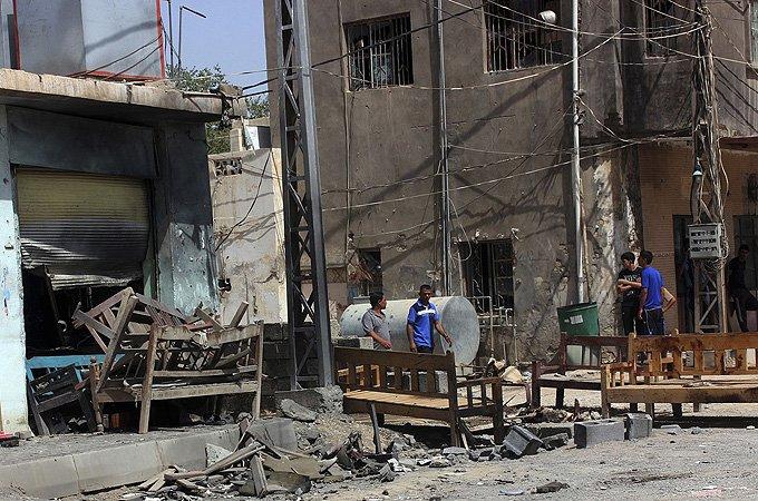 bombed iraqi town