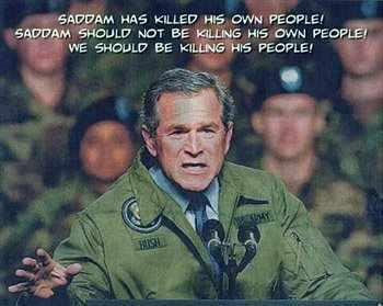 bush on saddam
