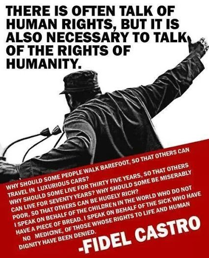 castro on right sof humanity