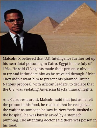 cia poisoned malcolm x