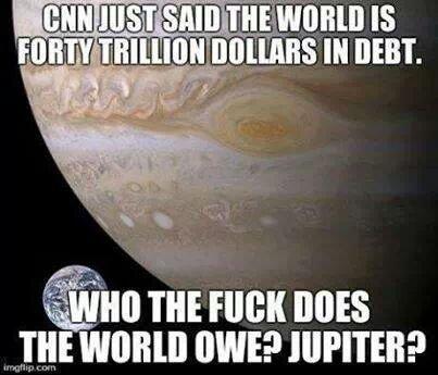 cnn said the world is 40trillion in debt