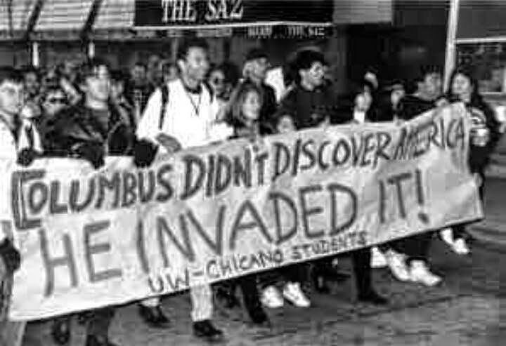 columbus didnt discover he invaded
