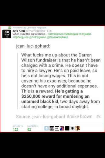 darren wilson fundraising