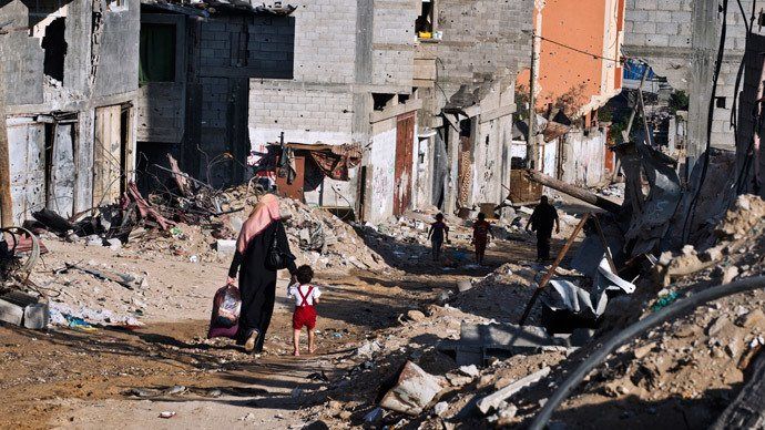 destroyed palestinian town