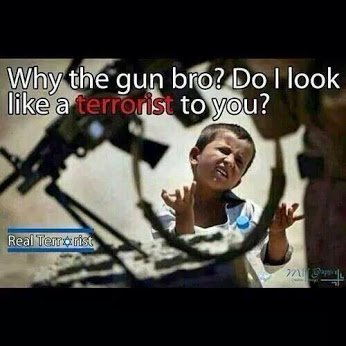 do i look like a terrorist to you