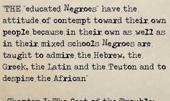 educated negroes