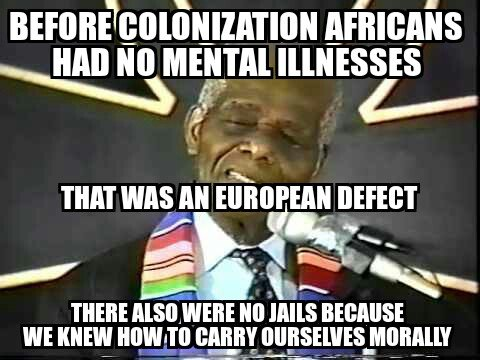 europeand brought mental illness to africa