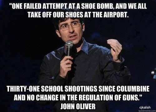 failed shoe bomb versus gun massacres