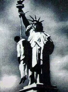 false statue of liberty