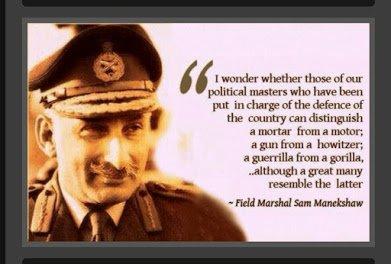 general manekshaw on politicians