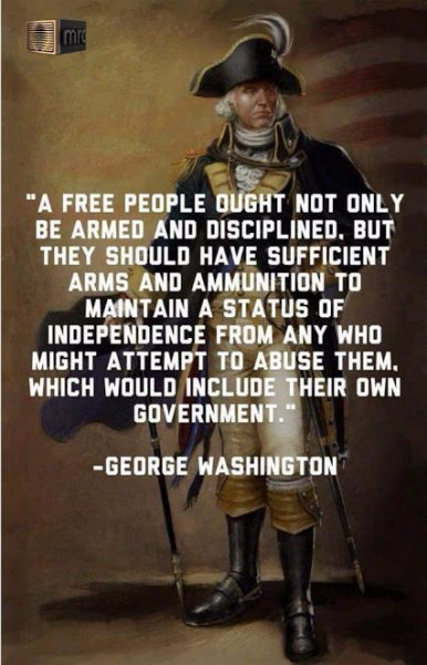 george washington on freedom and guns