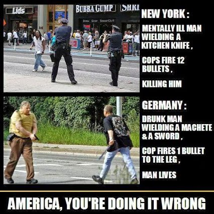 german versus us police