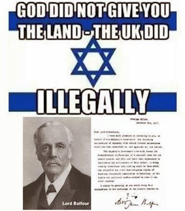 god did not give the jew land the uk did