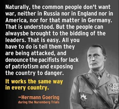 goering on war