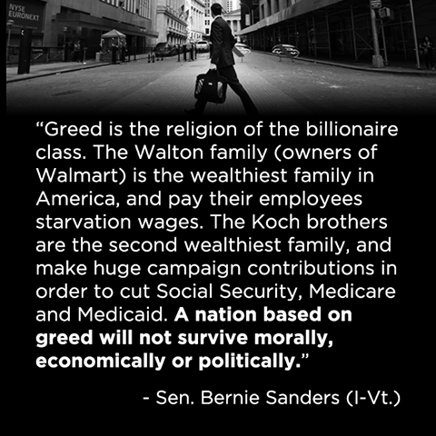 greed is the religion of billionaires