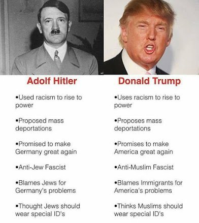 hitler and trump