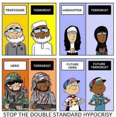 hypocrisy on terrorism