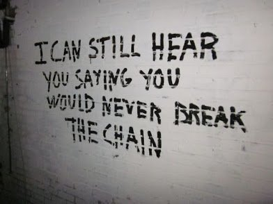 i can never break the chain