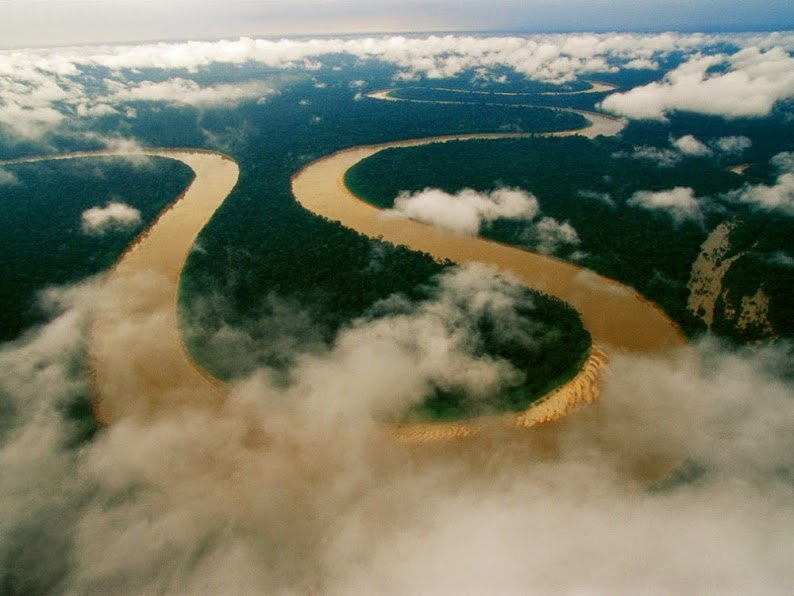 Itaquai River in brazil