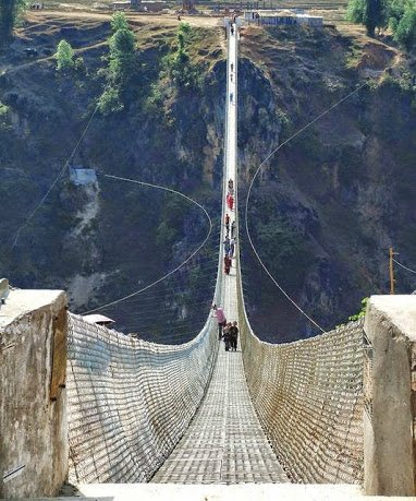 Kushma - Gyadi Suspension Bridge (2nd longest suspension bridge in Nepal